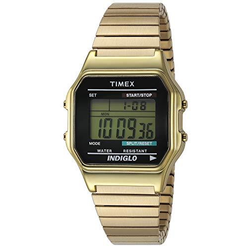 Timex Youth & Kids T78677PF - Reloj de cuarzo unisex, correa de acero inoxidable, color dorado