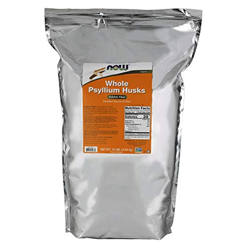 NOW Supplements, Whole Psyllium Husks, Non-GMO Project Verified, Soluble Fiber, 10-Pound (Bollinger Special Cuvee Best Price)