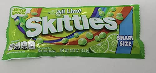 SKITTLES LIME SHARE SIZE 4 OUNCE