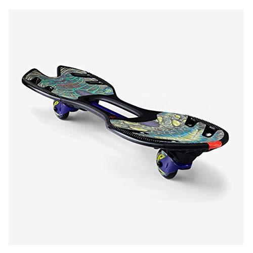 ZEL Hohe Qualität Verbesserte Skateboard Gleitrollen, Waveboard Durable Rollers (schwarz/grün/lila) 9.26 (Size : C)