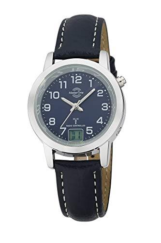 Master Time Funk Quarz Damen Uhr Analog-Digital mit Leder Armband MTLA-10490-32L