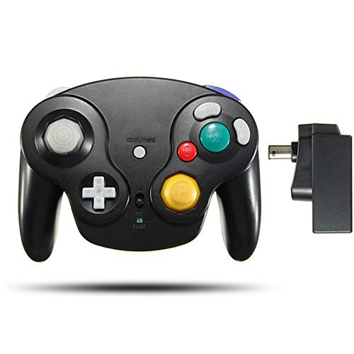 SSSabsir 2.4GHz Controller Wireless Gamepad Joystick for GameCube NGC Wii black