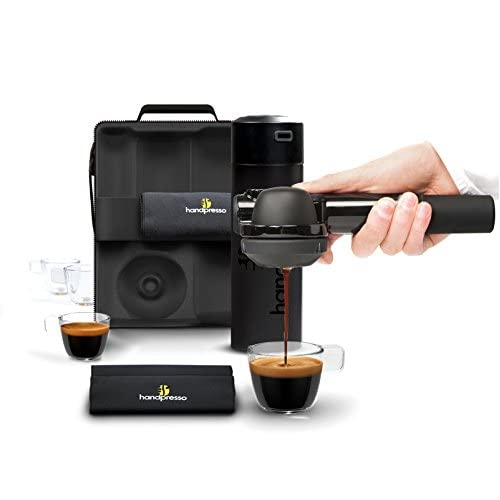 41Th6bZNwiL. SS500  - Handpresso Pump Set Black 48241 Full set with the portable and manual espresso machine for ESE pods or ground coffee