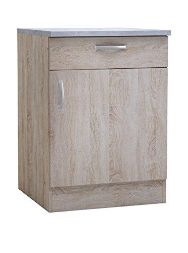 13Casa - Native A4 - Lowboard afmetingen: 60 x 60 x 85 cm. Kleur: eiken mat: Truciolare