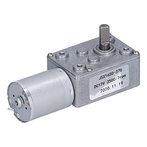Motor de Reducción DC 12v 2 RPM Fuerte Autobloqueo Reversible Alto Par Turbo Turbinas Motor Eléctrico con Engranaje Helicoidal