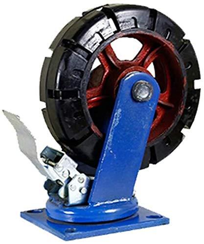 Ruedas De Repuesto Giratorias De Goma Anti Rayadur Heavy Duty Industrial Caster ruedas giratorias de goma antideslizante Muebles de ricino 2400lbs placa de capacidad resistente al desgaste for Banco d