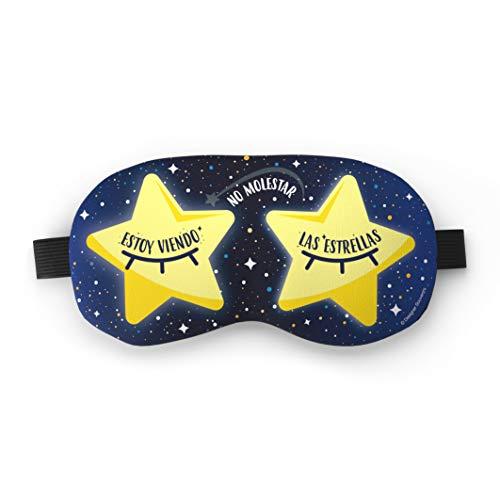 Designer Souvenirs - Antifaz Antiestrés Estoy Viendo las Estrellas con Bolsa de Gel | Relajación Inmediata | Efecto Frío y Beauty para Descongestionar el Contorno de los Ojos | Colección Cosmic Lovers