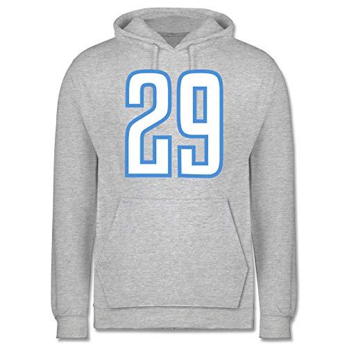 Shirtracer American Football - Football Tennessee 29 - XL - Grau meliert - Footballspieler - JH001 - Herren Hoodie und Kapuzenpullover für Männer