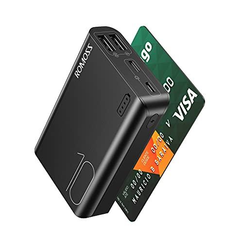 Romoss 10000mAh Bateria Externa PowerBank para Movil Cargador Portátil con 2 Puertos USB Cargador Compacto Batería Portátil Carga para Teléfono Móvil,Tablets y Más (Negro)