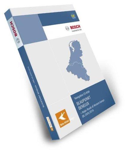 TeleAtlas Blaupunkt Benelux 2009/2010 DX mit Hauptverkehrsstrassen Europas für TravelPilot DX-Plattform