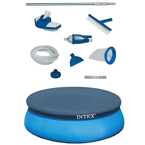 Intex Deluxe Pool Maintenance Kit & Intex 15 Ft Above Ground Swimming PoolCover