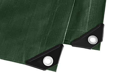 GardenMate 3 m x 3 m 260 g/m2 Lona de protección Heavy Duty Verde | Funda Protectora | Lona Impermeable