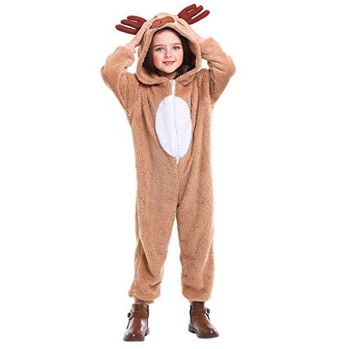 Dasongff Mutter Tochter Kleid Kostüm Overall Niedlich Plüsch Playsuit Sante und Rentier Jumpsuit Rompers Schlafanzugshose Pyjama Sleepwear Kostüme Bühnen Weihnachten Cosplay Party