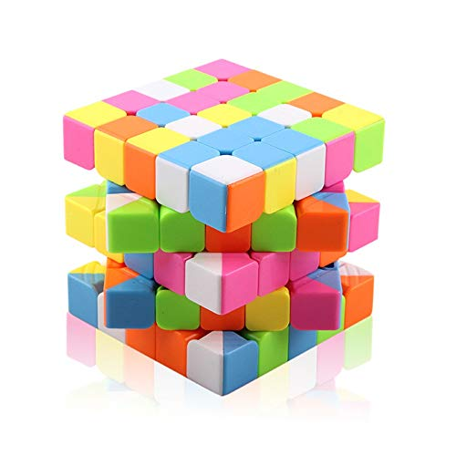 Liuzecai Cubos de Velocidad Torcedura mágica Cubo mágico del Color del Caramelo Quick Twist Juego 5x5 Cubo Mágico Velocidad del Rompecabezas del Cubo Juguetes Viajes Juguetes para el Regalo