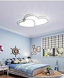 Lámpara de Techo Linterna de Hierro, 6 cm Lámpara LED Delgada Dormitorio Lámpara de Techo Lámpara de Dormitorio Creativa Niña Nórdica Unique Chandelier Heart 62 * 45cm Sxzyerp (Color : White)