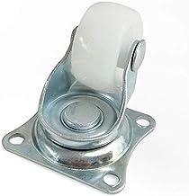 """Zwenkwielen Roulettes pivot Universelles 1""""  Roulette de meuble, blanc, Nylon PP, dubbele roue pour plateforme de wagen PI..."""