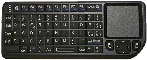 Rii Mini Elegance Bluetooth (layout ITALIANO) - Mini tastiera retroilluminata con mouse touchpad Bluetooth e laser per Tablet, Smartphone, Mini PC, Computer, PlayStation, Smart TV
