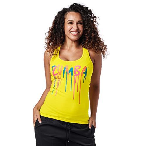 Zumba Dance Fitness Atmungsaktive Tank Workout Racerback Sportkleidung Damen, Mell-Oh Yellow A, M