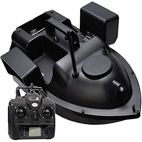 Mdcgok Barcos Cebador, Barco Cebador Pesca, 500m Control Remoto, Buscador De Peces Bait Boat 3 Hopper GPS Position Auto Fixed Speed ​​Cruise Wireless Intelligent Correction System with LED Light