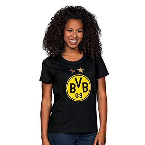 Borussia Dortmund, BVB-T-Shirt mit Logo für Frauen, Schwarz, 3XL