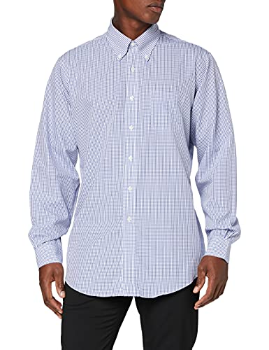 Brooks Brothers Camicia Regent Manica Lunga Chemise Business, Bleu (Blue 400), Medium (Taille Fabricant: 15H 34) Homme