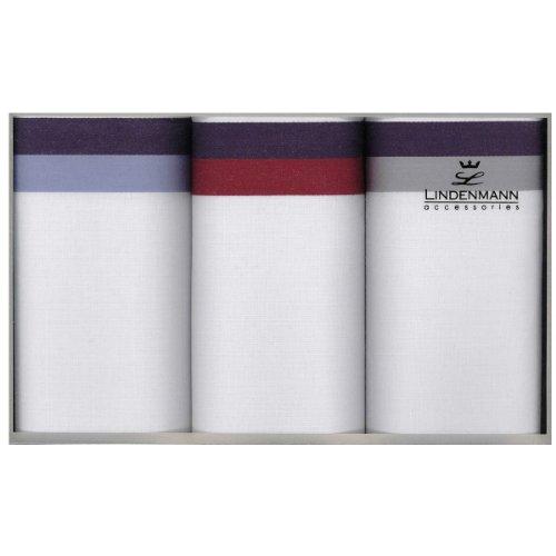 Lindenmann Handkerchiefs for men, 3-pack, white, 50012-001
