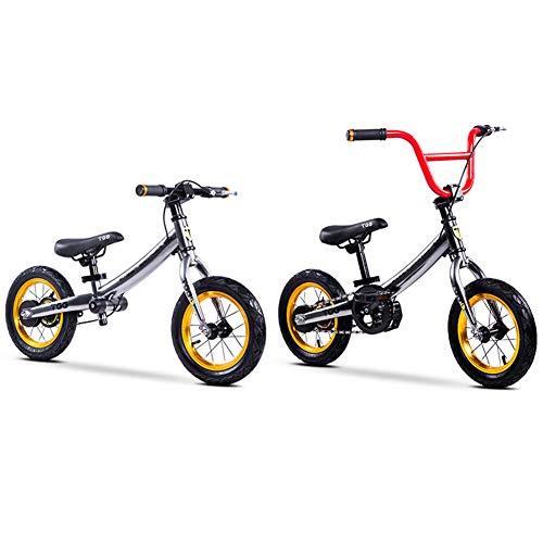 CBPE Kids Balance Bike, 2-in-1 Lichtgewicht No-Pedal Leer om te rijden Pre Bike w/Verstelbare Stuur & Stoel Fietsen Training voor Peuters, Wandelen Fiets, 14 inch