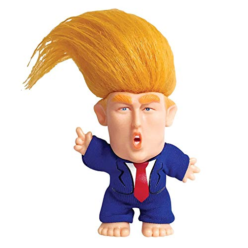 Juvarick President Donald Trump Troll Doll - Wild Hair to The Chief - Lifelike Collectible Figure Toys - Political Gift for Home Decoration