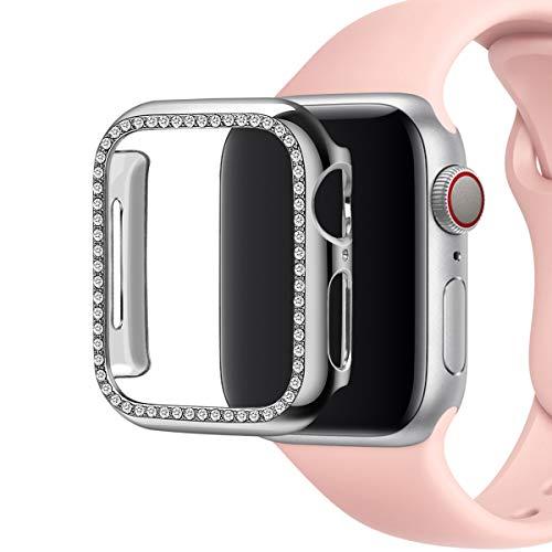 Aottom Schutzhülle Apple Watch 3 38mm Schutz Damen Glitzer,iWatch 38mm Series 3 Hülle Schutz Apple Watch Case Gel PC bumper Cover Apple Watch Series 2 Schutzhülle Rundherum Schutz für iWatch 38