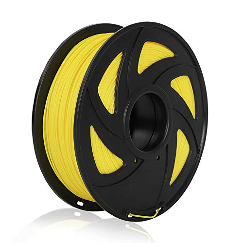 PLA 3D Printer Filament PLA Filament 1.75mm 1kg 2.2lb Spool, Dimensional Accuracy +/- 0.02 mm, Fit Most FDM Printers Pack of 1 (Yellow)