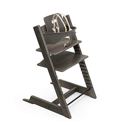 Product Image of the Tripp Trapp High Chair, Hazy Grey - Adjustable, Convertible Chair for Children &...