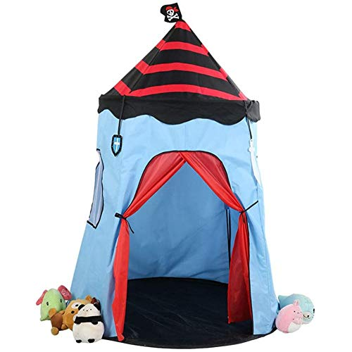 DXQDXQ Tent Pirate Style Prince or Princess Palace Castle Children kids Play Tent House Indoor or Outdoor Garden Toy House Playhouse Beach Sun Tent Boys Girls Quick Assemble Play Portable