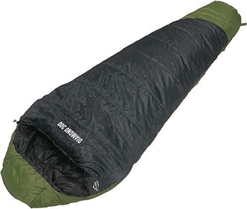 EXPLORER Mumienschlafsack Schlafsack Diamond 300 1900g Camping schwarz/grün