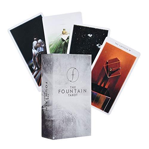 HEHEERHUO La adivinación Destino clásico Tarjeta-La Fuente Tarot: Cubierta Illustrated y 79cards manteles de Tarot y Bolsas de Almacenamiento