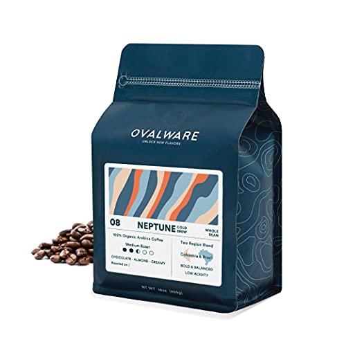 OVALWARE 08 Neptune - Cold Brew, Organic Medium Roast Whole...