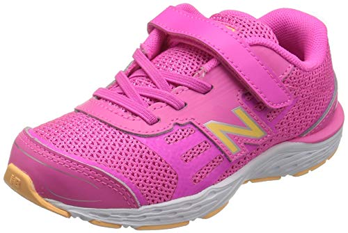 New Balance Kid's 680 V5 Alternative Closure Running Shoe, Light Peony, 6.5 XW US Toddler