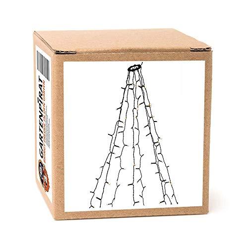 Lichterkette mit Ring 160 LED für Baum bis 2m zum einfachen Aufhängen mit Timer Strom außen