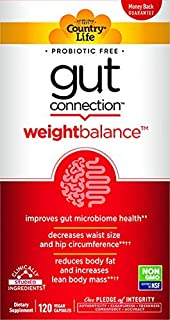 Country Life Gut Connection - 120 ct - Weight Balance - Help Improve Microbiome Health - Encourages Smaller Waist Size - M...