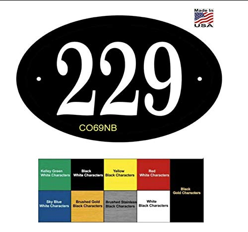 Address Plaque Personalized. Display Your House Number. Made in USA Custom & Economical Address Sign - Lawn Mount Optional - P2397