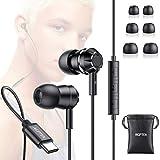 AGPTEK Écouteurs USB C, Écouteurs Intra-Auriculaires HiFi avec Micro et Contrôle du Volume,...