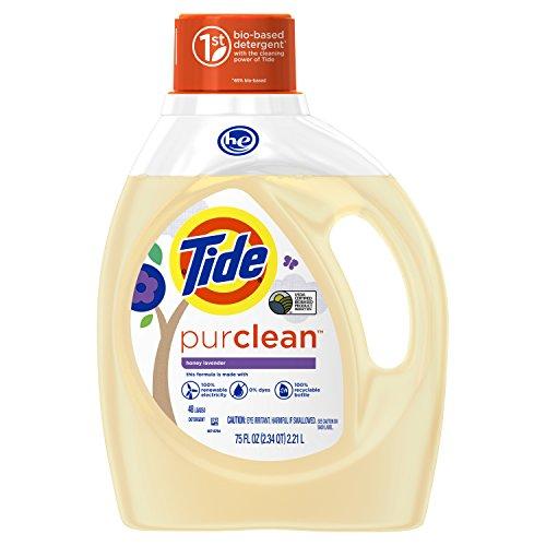of pure he detergents Tide PurClean Laundry Detergent, Honey Lavender Scent, 75 Oz