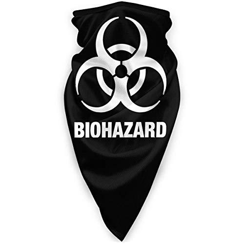 IUBBKI Biohazard Symbol Unisex Sciarpa sportiva antivento Scaldacollo da esterno Bandana Passamontagna Copricapo