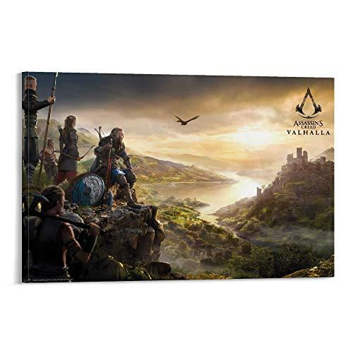DUIWU Póster decorativo de pared de Asassin's Creed Valhalla (50 x 75 cm)