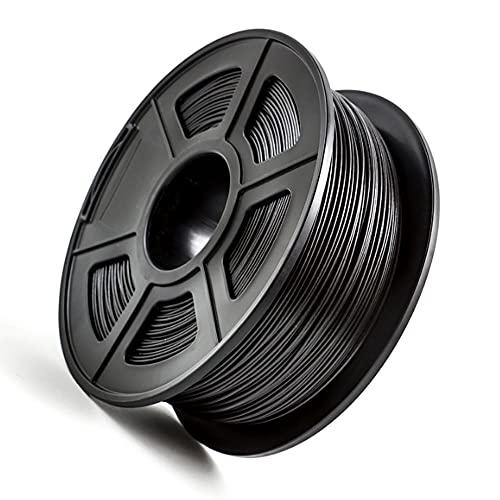 PLA Carbon Fiber Filament 1.75mm Carbon Fiber Reinforced Polylactic Acid Material 1kg 2.2lb Spool Black Filament Carbon Fiber Content 25%