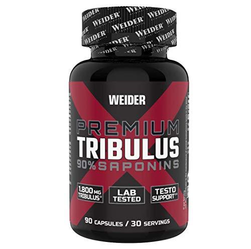 WEIDER Premium Tribulus mit 90% Saponinen und Zink 90 Kapseln, Fitness & Bodybuilding