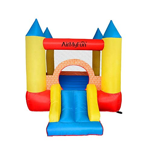 PLAY4FUN Château Gonflable pour Enfants 2,8m : Aire de Jeux Gonflable avec Toboggan -...