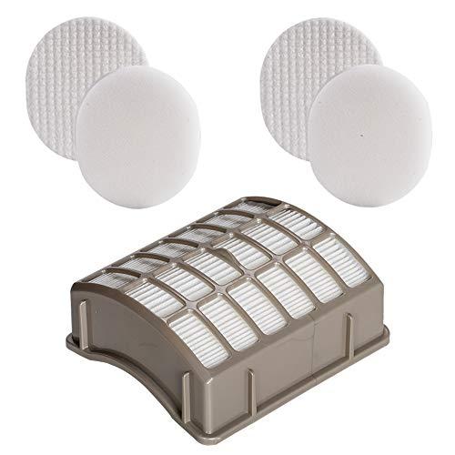 HIFROM Ersatzfilter für Shark Navigator Rotator Professional NV70 NV71 NV80 NV90 NV95 NVC80C UV420 Staubsauger ersetzt Teilenummer XFF80 & XHF80, 1 HEPA-Filter & 2 Schaumstoff-Filzfilter-Set