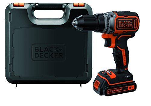 Black+Decker Akku-Bohrschrauber, Bohrmaschine (18 V 1.5Ah, bürstenloses 2-Gang-Getriebe, 1 Stück) BL186K