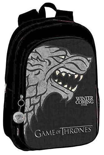 Game of Thrones Stark Perona 57064  Mochila Grande Adaptable a Carro  Negro Gris