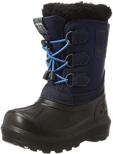 Viking Unisex-Kinder Istind Schneestiefel, Blau (Mid Blue/Black), 33 EU